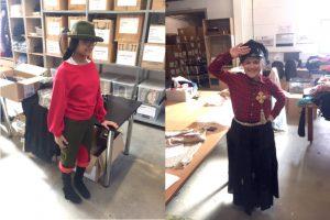Besuch im Kostümfundus der Stiftung Kinderjahre